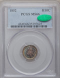 Seated Half Dimes, 1852 H10C MS66 PCGS. CAC....