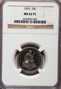 Seated Quarters, 1876 25C MS62 Prooflike NGC....