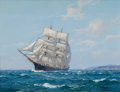 Maritime:Paintings, CHARLES B. VICKERY (American, 1913-1998). Whaler. Oil oncanvas. 18 x 24 inches (45.7 x 61.0 cm). Signed lower right:...