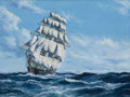 Paintings, JOHN BENTHAM DINSDALE (British, 1927-2008). The United States Clipper Ship 'Flying Crow'. Oil on canvas. 18 x 24 inches ...