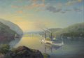 Maritime:Paintings, LEONARD JOHN PEARCE (British, b. 1932). Gateway to theHighlands, the Hudson River from West Point. Oil on canvas. 20x ...