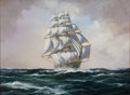 Maritime:Paintings, JOHN BENTHAM DINSDALE (British, 1927-2008). The Clipper'Nightingale'. Oil on canvas. 18 x 24 inches (45.7 x 61.0 cm).S...