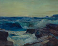 Maritime:Paintings, FRANK W. HANDLEN (American, b. 1916). Rocky Seascape. Oil oncanvas. 38 x 48 inches (96.5 x 121.9 cm). THE MBNA COLLEC...