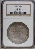 Early Dollars: , 1800 $1 AU53 NGC. NGC Census: (45/132). PCGS Population (22/65).Mintage: 220,920. Numismedia Wsl. Price: $6,550. (#6887)...
