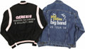"""Music Memorabilia:Memorabilia, Phil Collins/Genesis Tour Jackets. Included are a black cotton jacket with pink piping and """"Genesis Madison Sq. Garden 5 Sel... (Total: 2 Item)"""