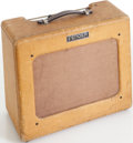 Musical Instruments:Amplifiers, PA, & Effects, 1950 Fender Deluxe Tweed Guitar Amplifier, Serial # 4967....