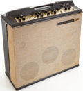 Musical Instruments:Amplifiers, PA, & Effects, Circa 1969 Magnatone M-15 Black Guitar Amplifier, Serial # 1064. ...