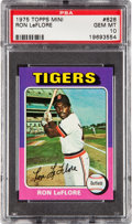 Baseball Cards:Singles (1970-Now), 1975 Topps Mini Ron LeFlore #628 PSA Gem Mint 10....