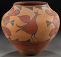 American Indian Art:Pottery, A ZIA POLYCHROME JAR. c. 1925...