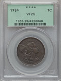 Large Cents, 1794 1C Head of 1794 VF25 PCGS. S-44, B-33, R.1....