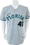 Baseball Collectibles:Uniforms, 1999-2002 Ryan Dempster Game Worn Florida Marlins Jersey....