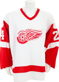 Hockey Collectibles:Uniforms, Late 1980's/ Early 1990's Bob Probert Game Issued Detroit Red WingsJersey....