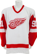 Hockey Collectibles:Uniforms, 1990's Sergei Fedorov Game Issued Detroit Red Wings Jersey....