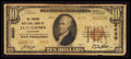 National Bank Notes:Tennessee, Tullahoma, TN - $10 1929 Ty. 2 The Traders NB Ch. # 4020. ...