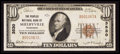 National Bank Notes:Tennessee, Shelbyville, TN - $10 1929 Ty. 1 The Peoples NB Ch. # 3530. ...