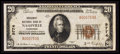National Bank Notes:Tennessee, Nashville, TN - $20 1929 Ty. 1 Broadway NB Ch. # 9774. ...