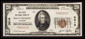 National Bank Notes:Tennessee, Mount Pleasant, TN - $20 1929 Ty. 1 The First NB Ch. # 9319. ...