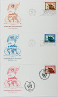 Books:Non-fiction, [First Day Covers]. Group of Three Related to the United Nations. 1971. Fine....
