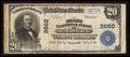 National Bank Notes:Tennessee, South Pittsburg, TN - $20 1902 Plain Back Fr. 652 The First NB Ch.# 3660. ...