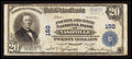 National Bank Notes:Tennessee, Nashville, TN - $20 1902 Plain Back Fr. 654 Fourth & First NBCh. # 150. ...