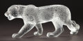 Art Glass:Lalique, LALIQUE CLEAR AND FROSTED GLASS JAGUAR . Circa 1999.Engraved: Lalique, France . 13-1/2 inches long (34.3 cm)....