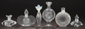 Art Glass:Lalique, SIX LALIQUE CLEAR AND FROSTED GLASS PERFUME BOTTLES . Post 1945.Engraved: Lalique France; c 527, LALIQUE COLLECTORS SOC...(Total: 6 Items)