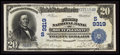 National Bank Notes:Tennessee, Mount Pleasant, TN - $20 1902 Plain Back Fr. 652 The First NB Ch. #(S)9319. ...