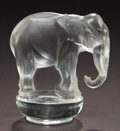 Art Glass:Lalique, R. LALIQUE CLEAR GLASS TOBY PAPERWEIGHT . Circa 1931.Stenciled: R. LALIQUE, FRANCE . 3-1/4 inches high (8.3 cm)...