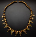 Estate Jewelry:Necklaces, Brass Round Bead Necklace. ...