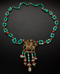 Estate Jewelry:Necklaces, Turquoise & Coral Necklace. ...