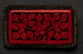 Estate Jewelry:Brooches - Pins, Vintage Carved Cinnabar Pin. ...