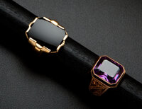 Two Gent's Gold Rings