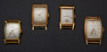 Timepieces:Wristwatch, Four Vintage Manual Wind Wristwatches. ... (Total: 14 Items)