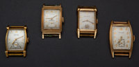 Four Vintage Manual Wind Wristwatches