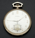 Timepieces:Pocket (post 1900), Longines 14k White Gold 12 Size. ...