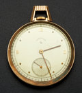 Timepieces:Pocket (post 1900), Elgin 14k Gold & Enamel 12 Size Lord Elgin. ...