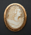 Estate Jewelry:Cameos, Vintage Gold Shell Cameo. ...