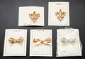 Estate Jewelry:Brooches - Pins, Five Gold Watch Pins. ... (Total: 5 Items)