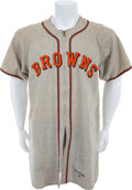 Baseball Collectibles:Uniforms, 1946 John Pavlick Game Worn St. Louis Browns Jersey....