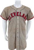 Baseball Collectibles:Uniforms, 1947 Don Black Game Worn Cleveland Indians Jersey....