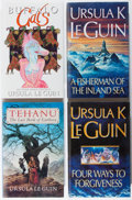 Books:Science Fiction & Fantasy, [Jerry Weist]. Ursula K. Le Guin. Group of Four British First Edition Books. Gollancz, 1990-1996. Fine.... (Total: 4 Items)