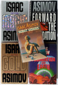 Books:Science Fiction & Fantasy, [Jerry Weist]. Isaac Asimov. Group of Five First Edition Books. Various, 1986-1996. Very good or better.... (Total: 5 Items)
