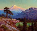 Paintings, ROBERT WILLIAM WOOD (American, 1889-1979). Mount Ranier, 1940s. Oil on canvas. 25 x 30 inches (63.5 x 76.2 cm). Signed l...