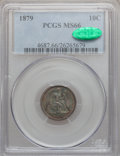 Seated Dimes, 1879 10C MS66 PCGS. CAC....