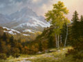 Fine Art - Painting, American, ROBERT DELEON (American, b. 1953). Across the Dallas Divide.Oil on board. 18 x 24 inches (45.7 x 61.0 cm). Signed lower...