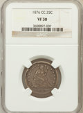 Seated Quarters: , 1876-CC 25C VF30 NGC. NGC Census: (4/239). PCGS Population(15/294). Mintage: 4,944,000. Numismedia Wsl. Price for problem ...