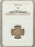 Barber Dimes: , 1896-S 10C Good 4 NGC. NGC Census: (15/90). PCGS Population(9/175). Mintage: 575,056. Numismedia Wsl. Price for problem fr...