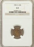Barber Dimes: , 1901-S 10C Good 4 NGC. NGC Census: (10/94). PCGS Population(11/158). Mintage: 593,022. Numismedia Wsl. Price for problem f...