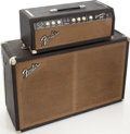 Musical Instruments:Amplifiers, PA, & Effects, 1964 Fender Bassman Black Guitar Amplifier, Serial # BP11727....