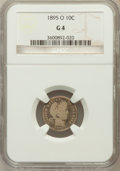 Barber Dimes: , 1895-O 10C Good 4 NGC. NGC Census: (37/139). PCGS Population(61/321). Mintage: 440,000. Numismedia Wsl. Price for problem ...